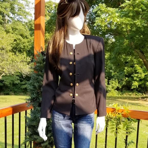 Leslie Fay:: Black 3-Way Blazer